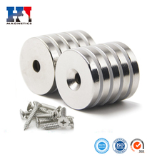 High Quality D32x5mm Neodymium Disc Countersunk Hole Magnets