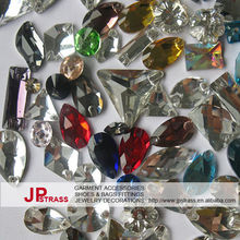 best price flat back glass beads sew on different shape fancy stones high quality low price