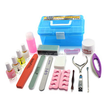 hot sell nail art tool set 19pieces/set manicures basic supplies