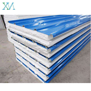 Hangzhou xiaoning polystyrene foam PPGI sheet EPS roofing sandwich panel in low price