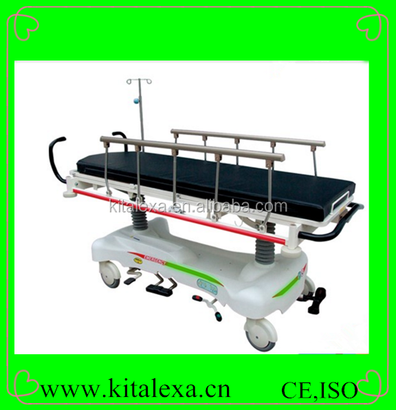 KA-SR00067 Wheeled Hydraulic Stretcher Medical Stretcher with Central Locking Brakes