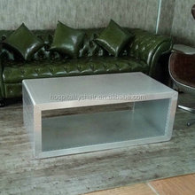 Modern drawers MDF frame aluminum cover coffee table F020