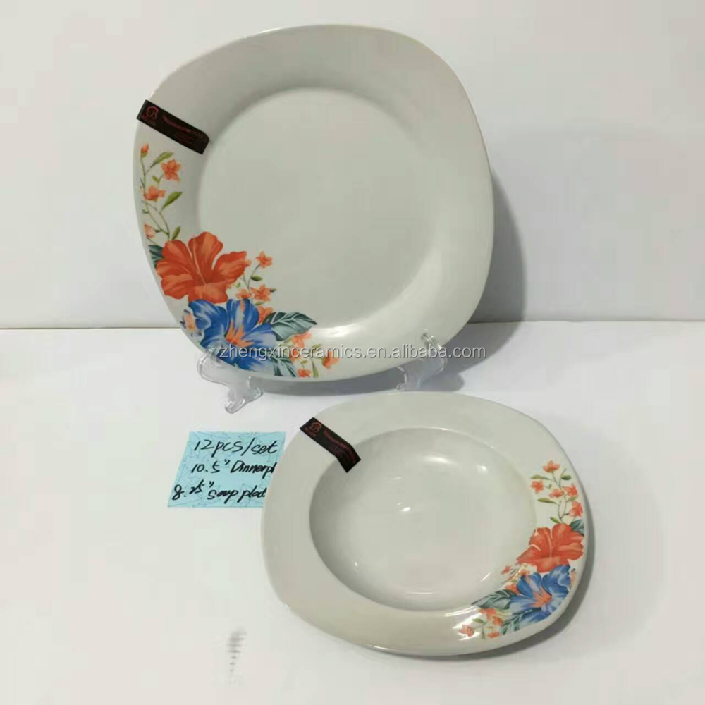 Fine Porcelain 20 PCS dinner set with decal design