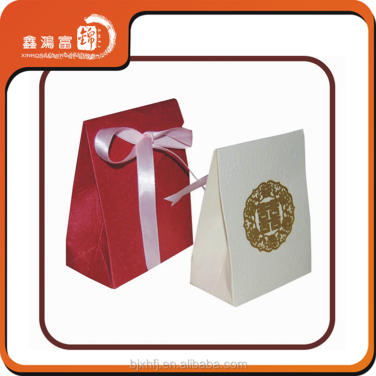 custom fancy candy paper packaging box with bow