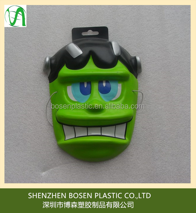 Custom vacuum formed pvc funny face mask