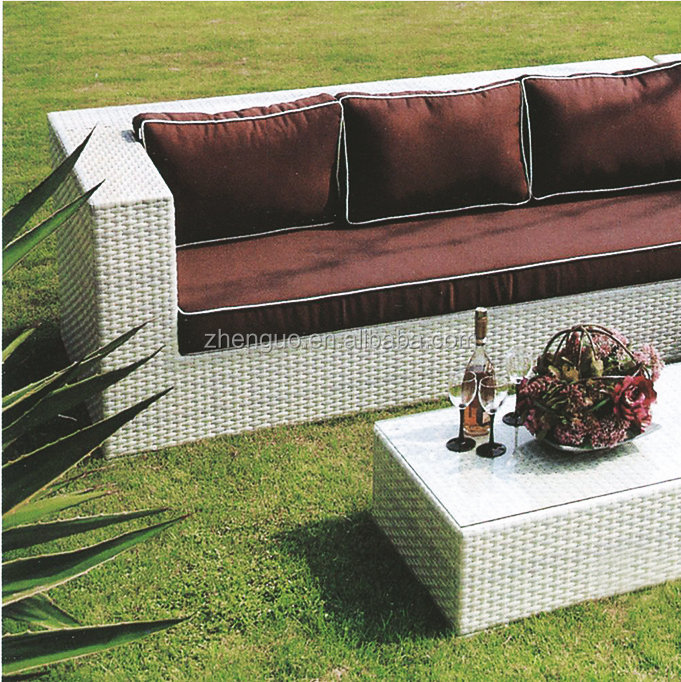 Cheap Long Rattan Curved Sectional Sofa Set