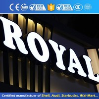 Outdoor Business Shop Logo Display Acrylic 3D Light Box Sign Epoxy Resin Led Front Illuminated Channel Letter
