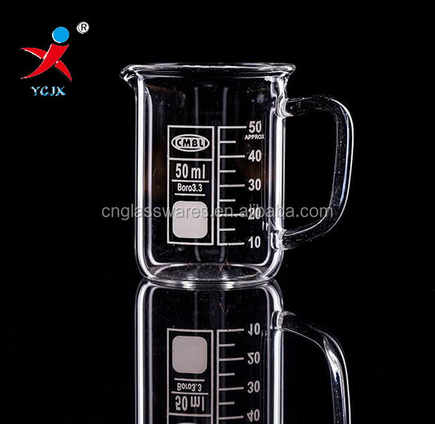 50ml Small Pyrex Glass Beakers With Handle