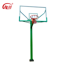 Indoor hydraulic basketball poles systems with SMC backboard