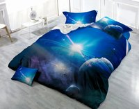 3D Outer Space Printed 100% Polyester Galaxy Bedding Set