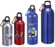 500ml promotion 1 liter aluminium sports water bottle with plastic lid