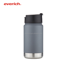 Everich Double Wall Vacuum Insulated Stainless Steel Hydro Flask Water Bottle / Travel Coffee Mug, Wide Mouth with Flip Lids