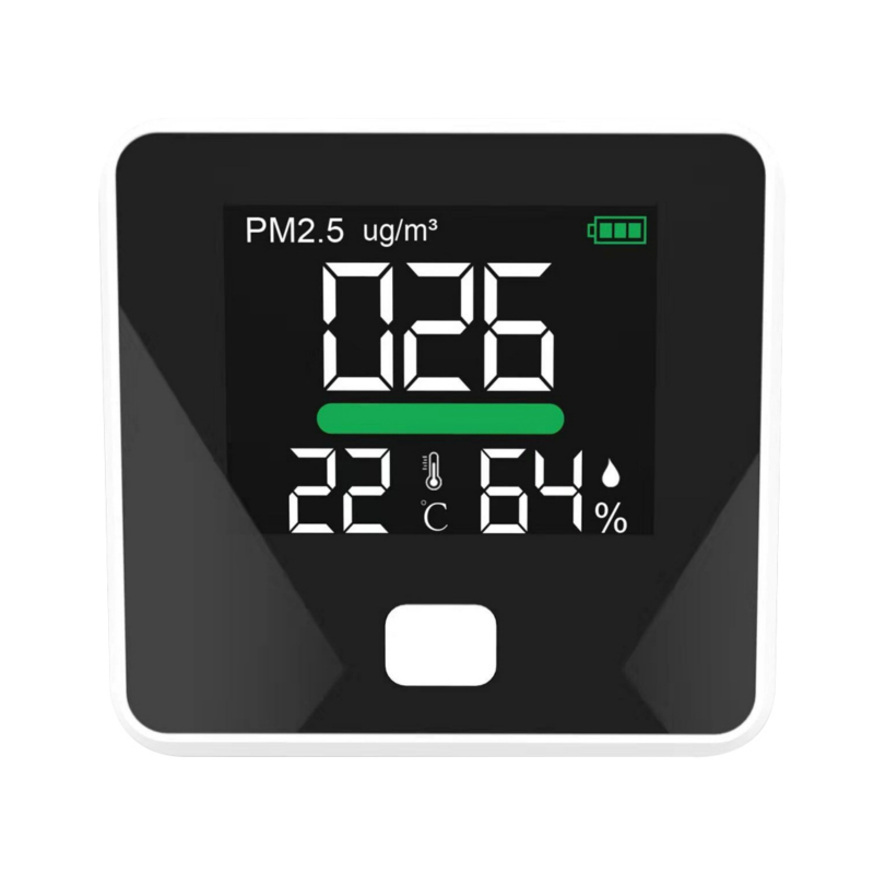 Lower Priced PM2.5 Air Quality Monitor Pollution Meter Detector Particles Temperature Humidity Colorful Display