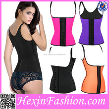 Wholesale Erotic White Overbust Open Latex Waist Corsets