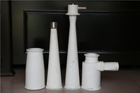 Factory direct sales alumina wear resistance ceramic parts/cones/tube for waste paper recycle equipment