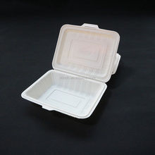 Disposable Cornstarch 650ml Lunch Box To Go Biodegradable Food container