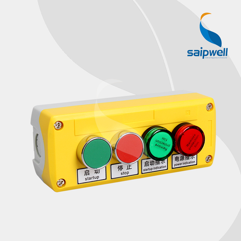 Saipwell New OEM pushbutton control box With Singal Light