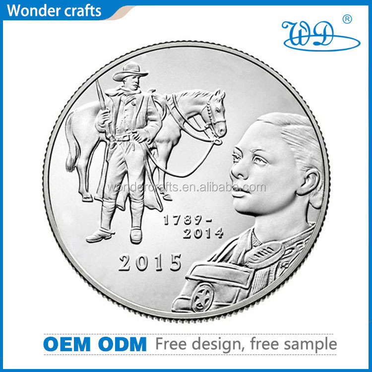 Unique products from china free design logo collecting 2d punching silver plating metal material ancient roman coins