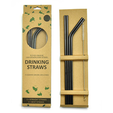 "Eco Friendly 8.5"" 10.5"" Reusable Stainless Steel Drinking Straws For 20/30 oz Tumbler"