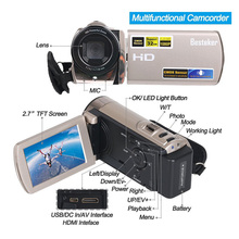 Besteker 1080P 20MP 3.0'' TFT LCD Screen 16X Digital Zoom High Definition Digital Video Camcorder With Bag