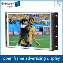 15 inch lcd wall mounted video player, open frame lcd media player, indoor hot sale flat screen