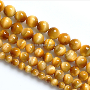 Wholesale Tiger Eye Stone Bead14mm Round Polished Natural Gemstone Loose Beads