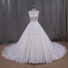 Perfect tiered fish tail gown plus size wedding dress with long train