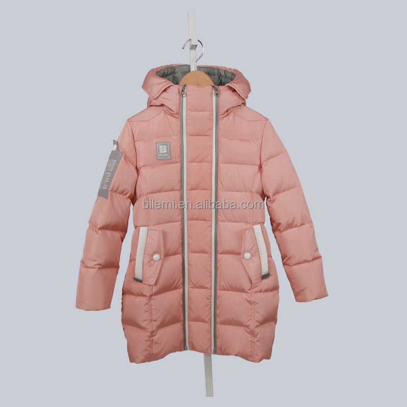BILEMI Winter Children long fashion down jacket kids warm down coat clothing