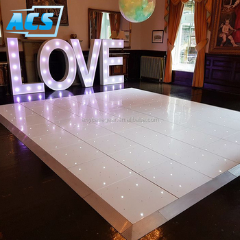 White Full Color Interactive Flashing Professional Wedding Stage Decoration LED Starlit Dance Floor