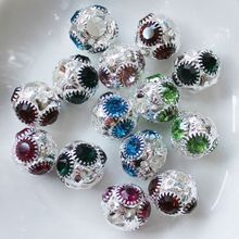 11MM Wholesale Diamond Rondelle Crystal Rhinestone Spacer Beads For Jewelry&Clothes Accessories