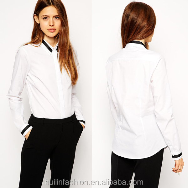 2015 new fashion long sleeve women office uniform style new-model-shirts woman shirt