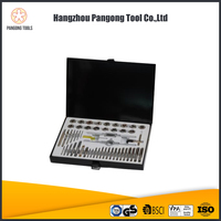 High Quality China Factory 51piece tap die and drill set Metal box packed metric size tool kit