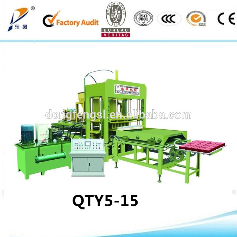 QTY5-15A fully automatic paver block manufacturer/ ecological bricks / machines for the manufacture of bricks