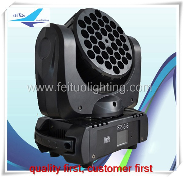 Free shipping (<strong>6</strong> pieces) club light 36x3w rgbw single color led moving head beam