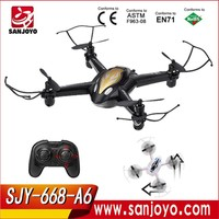 6CH RC Plane With Flash Light 6-channel rc toy 360 degrees rc drone 2.4G Quadcopter SJY-668-A6