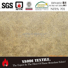 Luxury 100 polyester waterproof fire resistant classic car upholstery fabric