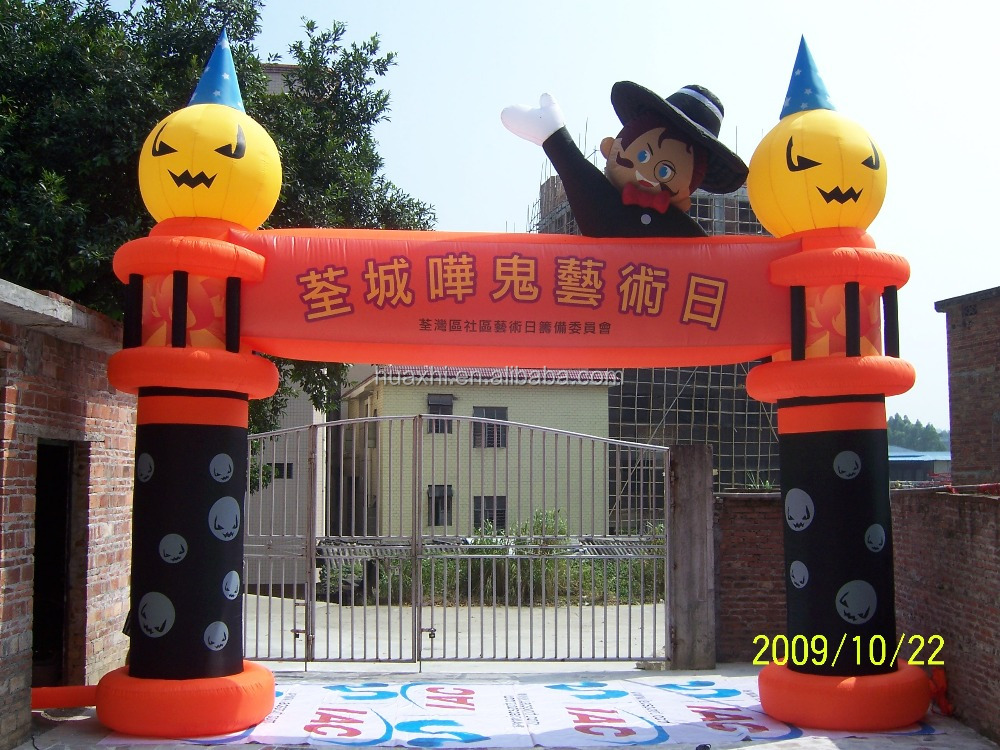 Professional customize inflatable halloween arch