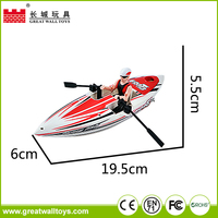 New cheap small plastic rc toy boats for sale