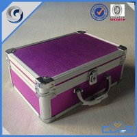 MLD-CC756 Beauty Purple Portable Aluminum Frame Jewelry Storage Makeup Artist Cosmetic Box