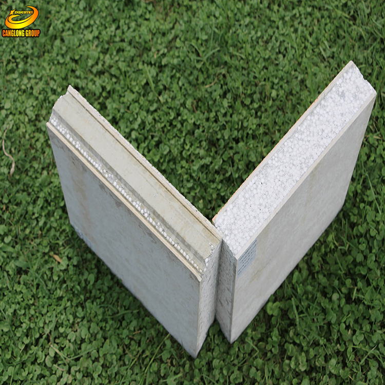 Low cost building material fireproof aluminum foam eps sandwich wall panel
