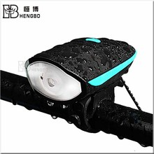LED Speaker Bicycle Light Micro USB rechargeable Bike Light With High DB Horn