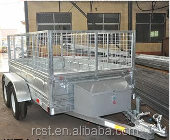 Hydraulic tipping box trailer/Hot dip galvanlized trailer