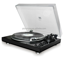 High End 2 Speed Retro Piano Black Turntable With Alumunum turntable platter, auto-return function