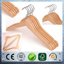Solid lotus wooden hanger for clothes