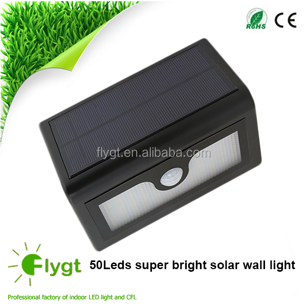 China oem manufactures high quality solar outside lights with sensor