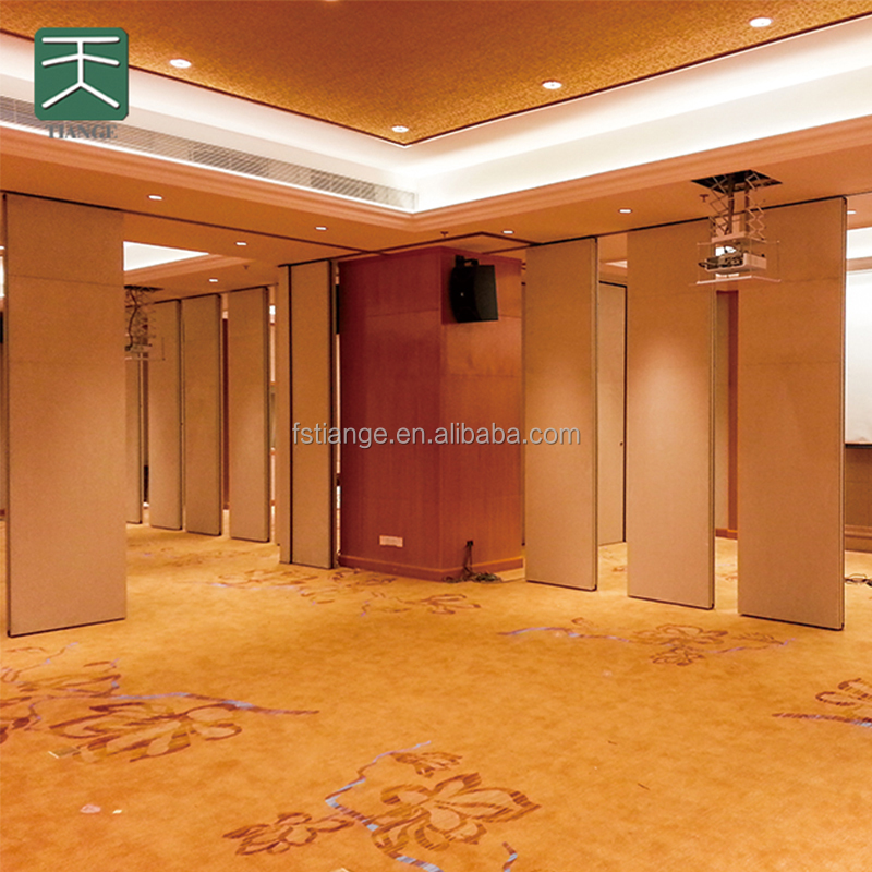 Acoustic operable partition wall wood movable partitions for function room
