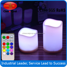 colorful ZM-001 Electronic Rustic Real Wax LED Candle