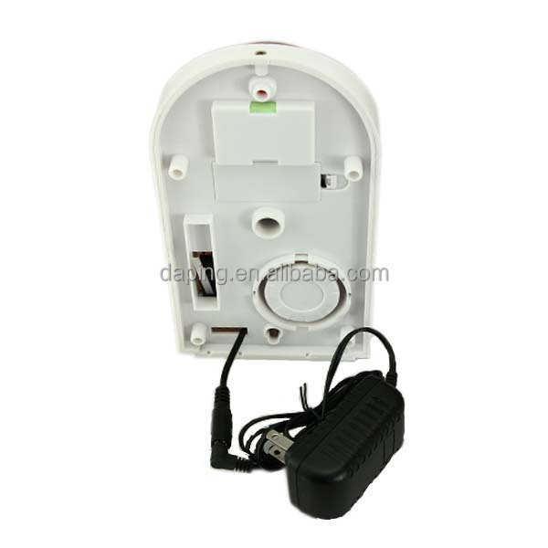 wireless outdoor siren and strobe light for security alarm system