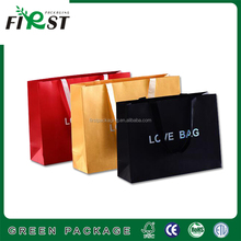 high quality custom made xiamen hot stamping paper bag with handle/Surface Handling and Shopping Industrial Use magazine