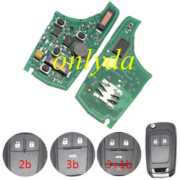 Chevrolet 3 Button remote control with 433 MHZ remote key kias cerato remote key
